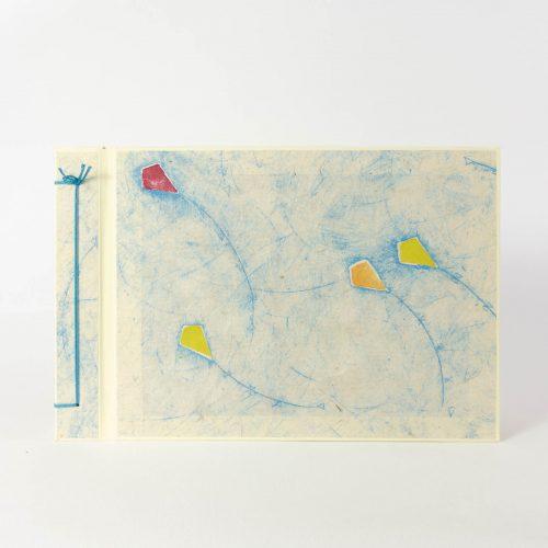 Album mit Naturpapierdekor, weisse Fotoseiten