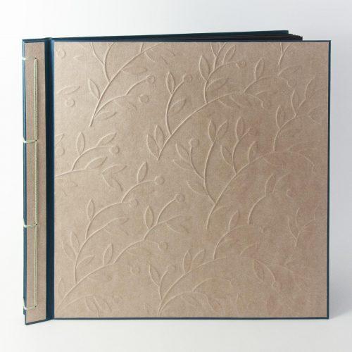 Hochzeitsalbum, Fotoalbum mit Pflanzen-Motiv