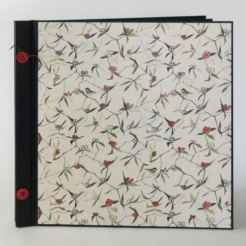 Album mit schwarzen Kartonseiten