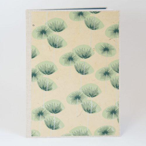 Kladde, Liniertes Buch, Notizbuch mit Blumenmotiv